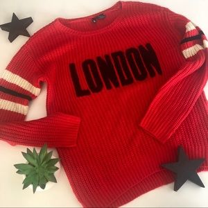 London Red Sweater